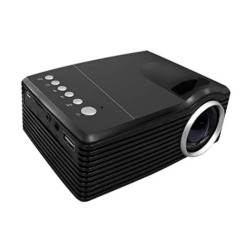 Mini Projector  Portable 600Lumens HD LED Projector Pocket Projector With AV USBTF Card Input  for Video  Movie  Game  Home  Entertainment