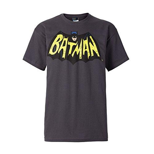 Classic Batman Logo T-shirt (DC Comics Batman T-Shirt Classic Logo Grau [L])