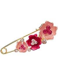 2250c4891602 Gysad Broches Forma de flor Broches de bisuteria baratos Elegante y  encantador Imperdibles grandes Bufanda