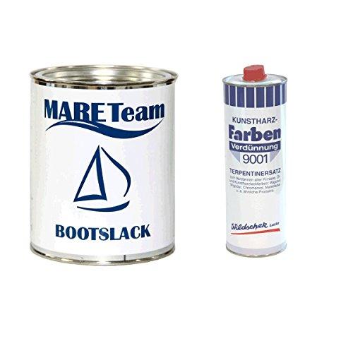 Wildschek - Mareteam Bootslack 750 ml Profiausführung matt + Kunstharzverdünnung 0,5 Liter