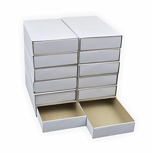 Creleo 792391 Streichholzschachteln Groß, 12 Stück blanko weiss ca. 11x6x2 cm