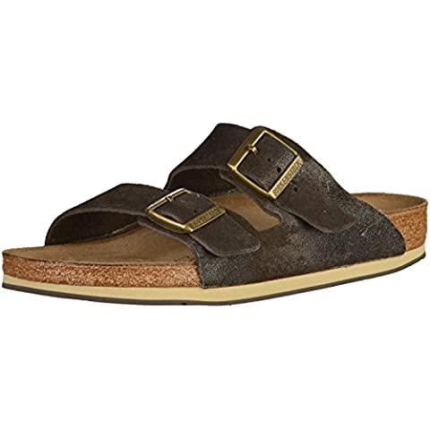 Birkenstock Arizona Veloursleder Sandale normal brown finish - 45