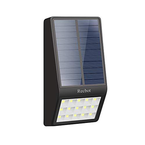 descripción del producto  Características :  Luces solares led   Sensor fotosensible : Cuando se enciende el dispositivo, la iluminación se ajusta automáticamente según la luz radiante del panel solar. Se enciende automáticamente cuando no hay luz po...