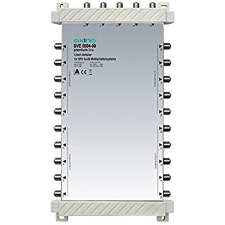 Axing SVE 5504-09 5 In 4 x 5 Out 4-Way Satellite Multiswitch Splitter - White