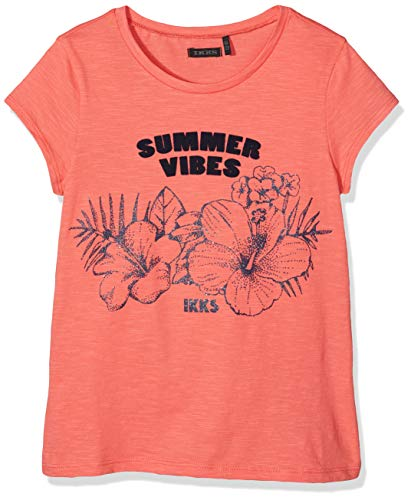 IKKS Junior T Shirt Corail Fleurs, Orange 30, 10 Ans (Taille Fabricant:10A) Fill