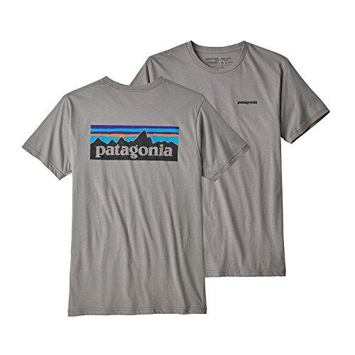 Patagonia M 'S P Logo Organic T Shirt, Herren L Erika-Grau