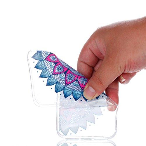 iPhone X Custodia,Fiore Patate Modello di sollievo in vernice Custodia in TPU Gel Ultra sottile [Trasparente] Custodia protettiva in gomma flessibile case cover para for iPhone X colour *1