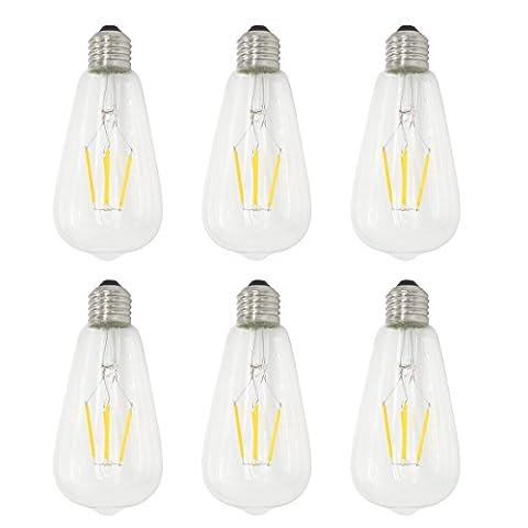 6-Pack 4W Dimmable 400 lm LED Glühlampe Kerze Glühbirne Warmes Weiß 2700K E27 Kandelaber Basis 40W Glühlampe Äquivalent yt-st64-9