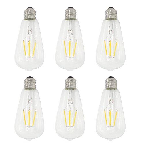 6-Pack 4W dimmerabili 400 LM LED Lampadina a lume di candela bianco caldo 2700K E14 Candelabra Base 40W a incandescenza equivalente