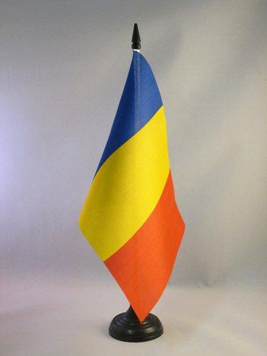 TISCHFLAGGE RUMÄNIEN 21x14cm - RUMÄNISCHE TISCHFAHNE 14 x 21 cm - flaggen AZ FLAG