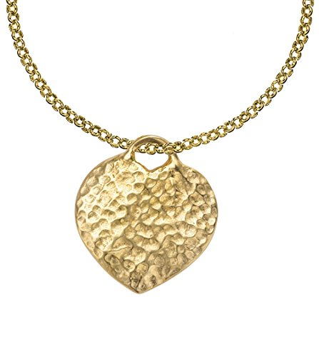 dower-hall-nomad-yellow-gold-plated-on-sterling-silver-beaten-heart-pendant-on-46cm-belcher-chain