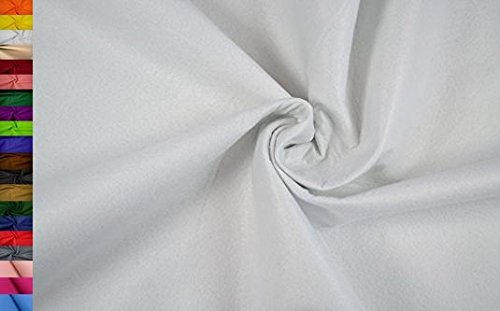 StoffBook FILZSTOFF VISKOSE -180CM BREIT-1MM DICK- APPLIKATION STOFF STOFFE, B511 (Weiß)