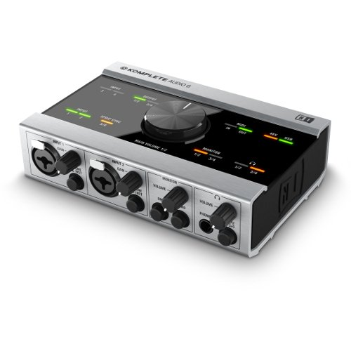 Native Instruments Komplete Audio 6 - Interfaz audio (MIDI, RCA, PDIF), color negro y gris