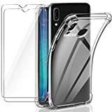 Leathlux Samsung Galaxy A20e Case + [2 Pack] Tempered Glass