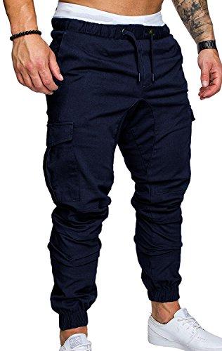 Tomwell Herren Leinen-Hose Lange Hose Bequeme Stoffhose aus hochwertiger Leinenmischung Blau XS -