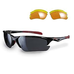 Sunwise Twister Running Sunglasses, Color- Black