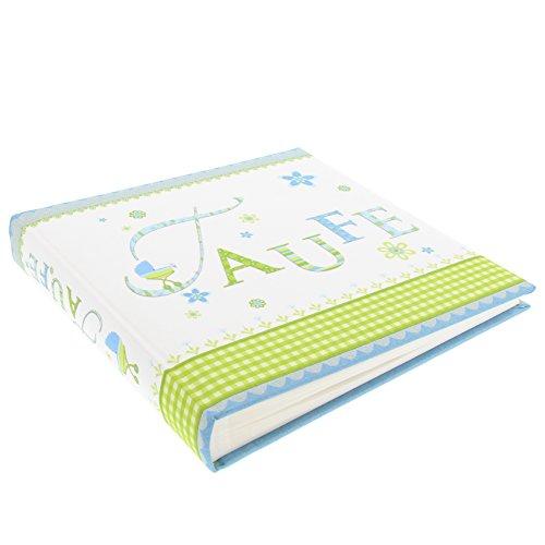 Goldbuch Taufalbum, Lovely, 2 5 x 25 cm, 60 weiße Blankoseiten mit Pergamin-Trennblättern, Leinen bedruckt, Blau, 24186