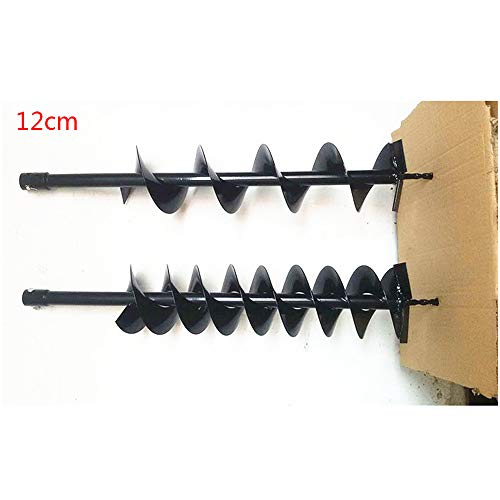 longxing - Broca de perforación para Taladro de Gasolina, 52 CC, 63 CC, y Broca de Taladro Individual o Doble Hoja 4-36 cm