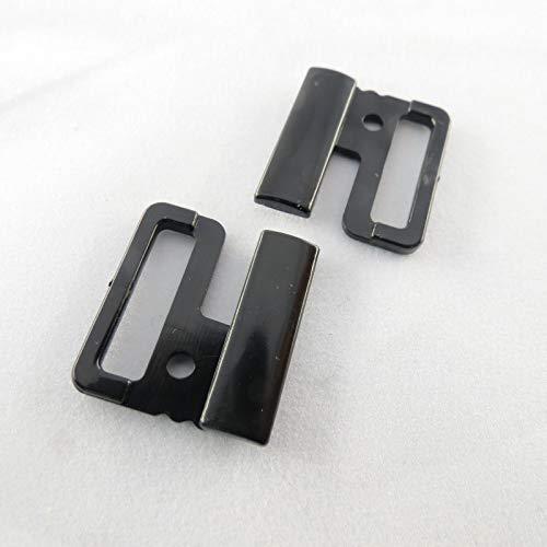 Unbekannt BH Bikini Verschluss Metall Kunststoff Plaste Bikiniverschluss 14/20 mm/Material/Farbe=Kunststoff schwarz | Größe=14 mm
