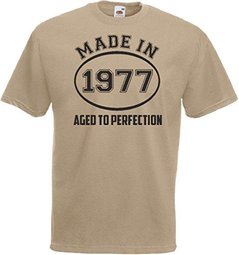 Novelty Gifts Herren T-Shirt, Logo grau asche Khaki