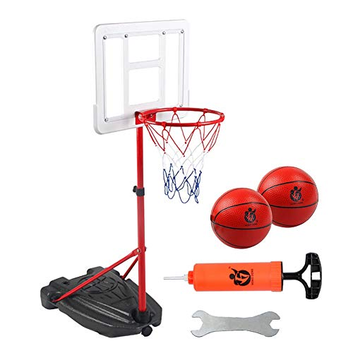 Transportable Korbanlagen Tragbare Basketballkorb-System, Freies Stehen Basketball Goal Court für Kinder Teens, Indoor Outdoor Games Mit Ballpumpe Rim Net