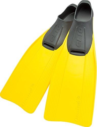Cressi Clio - Aletas, color amarillo, talla 43-44