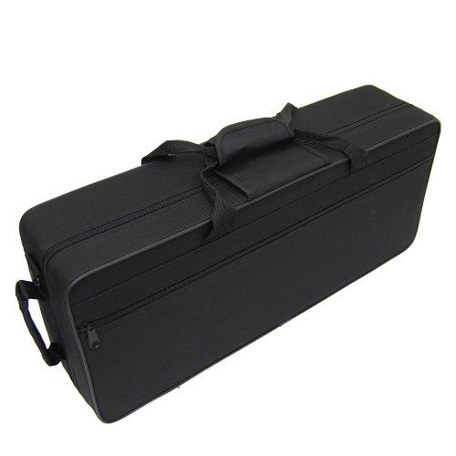 Ts-Ideen 6210 stabiler Softcase Koffer für Alt Saxophon Saxofon Saxophonkoffer mit zwei Tragegriffen und 2 Rucksackgurten schwarz