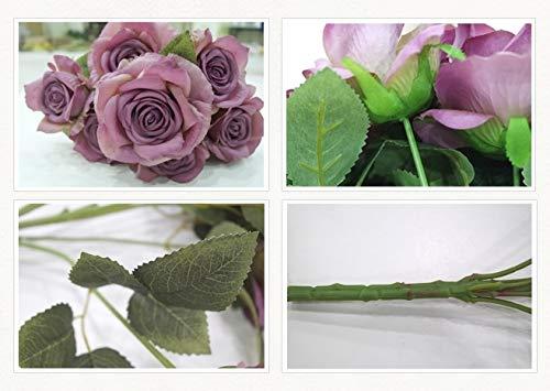 Bogas Cosmetics Ramo de Rosas Artificiales Premium para decoración de hogar, Bodas, restaurantes, hoteles y Eventos…