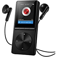 VICTSING Reproductor MP3 8GB (hasta 64 GB) HiFi Portátil y Brazalete Exclusivo Deportivo con Radio FM, Vídeo, E-Book, Grabadora, Imagen, Alarma - Negro (negro)