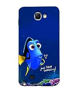 PrintVisa Just Keep Smiling 3D Hard Polycarbonate Designer Back Case Cover for Samsung Galaxy Note 2 :: Samsung Galaxy Note Ii N7100