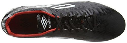 Umbro Velocita 2 Pro HG, Chaussures de Football Homme Noir (Ecl/Black/White/Grenadine)