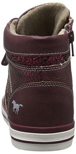 Mustang 1146-508-55, Sneaker a Collo Alto Donna Rosso (55 bordeaux)