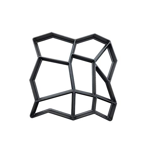 9 griglie diy walk maker pietra per fare da passerella in cemento riutilizzabile stampo per pavimentazione giardino prato pavimentazione pietra stampo nero