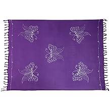 Riesen Auswahl - Sarong Pareo Wickelrock Handtuch Strandtuch Wickelkleid  Schmetterling Design Handarbeit Made by EL -