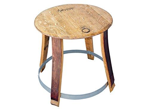 TEMESSO-Mesa-auxiliar-jardn-madera-con-elementos-de-un-barril-o-barrica-de-vino-madera-reacondicionada