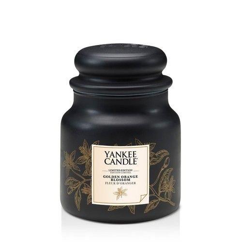 Yankee Candle Goldene Orangenblüte, Kerze, Glas, Schwarz, 9,9 x 9,9 cm -