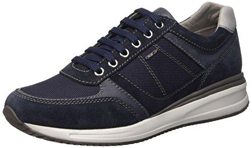 Geox u dennie b - scarpe da ginnastica basse uomo, blu (navyc4002), 43 eu