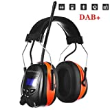 PROTEAR Gehörschutz mit Bluetooth/DAB/DAB + FM Radio, wiederaufladbare...
