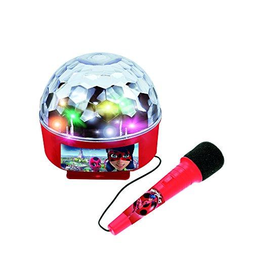 Ladybug- Miraculous Bola de luces con amplificador, Bluetooth y micrófono (Claudio Reig 2688)