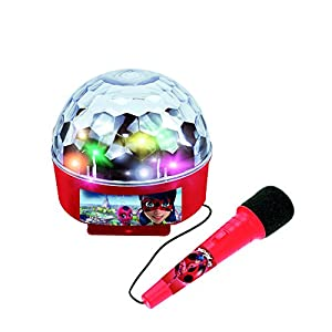 Ladybug Miraculous Bola de luces con amplificador, Bluetooth y micrófono (Claudio Reig 2688)