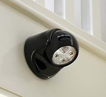 auraglow lampe de s curit pile avec d tecteur de mouvement infrarouge passif pir lampe de. Black Bedroom Furniture Sets. Home Design Ideas