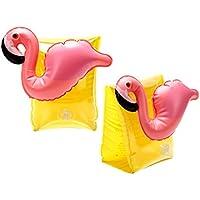 AMINSHAP Anillo de Brazo Inflable para Niños Hombres y Mujeres Pink Flamingo Lindo Anillo de Flotador