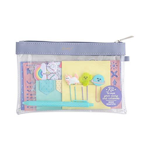 Mr. Wonderful Kit per Personalizzare e rallegrare la Tua Agenda e i Tuoi quaderni, Multicolore, Dimensioni: 25 x 10 x 0,3 cm