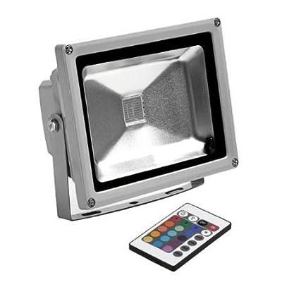 Shinntto 20W LED RGB 16 Farben Fluter Flutlicht Außen Strahler Scheinwerfer Wandstrahler wasserfest wetterfest IP65 mit Fernbedienung & Memory Funktion, kann die letzte Farbeinstellung speichern von Shinntto - Lampenhans.de