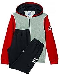 adidas Yb Ts Hojo Ft C - Chándal para niños de 9-10 años, color gris