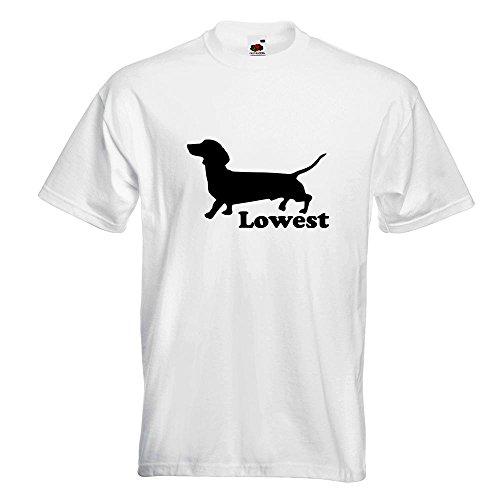KIWISTAR - Lowest T-Shirt in 15 verschiedenen Farben - Herren Funshirt bedruckt Design Sprüche Spruch Motive Oberteil Baumwolle Print Größe S M L XL XXL Weiß