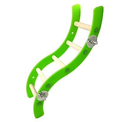 Pet Bird Parrot Hamster Acrylic Wave Ladder Stand Crawling Ladders Cage Play Fun Toy 3
