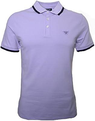 Armani Jeans Men's Lilac Polo Shirt