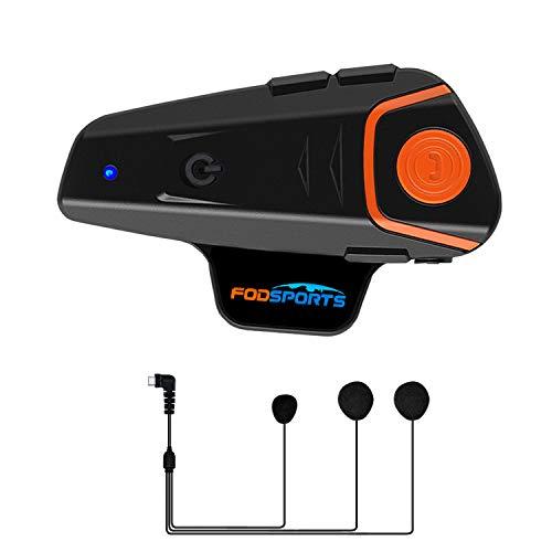 Casco Sistemas de comunicación Fodsports BT-S2 Intercomunicador de Motocicleta Auriculares Bluetooth Interfaz de Motocicleta, Distancia de intercomunicación de hasta 1000m