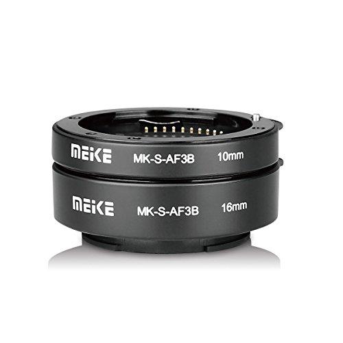 Meike mk-s-af3b Kunststoff Auto Focus Macro Extension Tube Autofokus Adapter Ring 10 mm 16 mm für Sony ohne Spiegel a7 a7m2 nex3 mex5 nex6 nex7 a5000 a6000 a6300 a6500 a9 usw kamera Macro Extension Tube